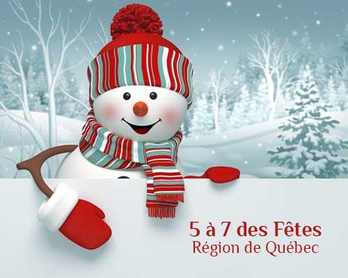 5 à 7 du temps des Fêtes de la région de Québec