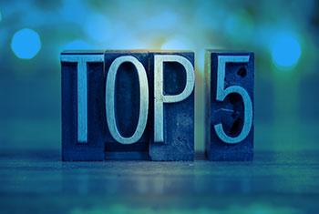 Les tops 5 de 2017